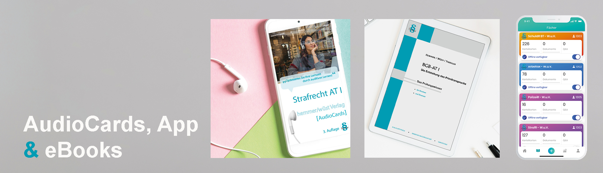 hemmer AudioCards, App und eBooks