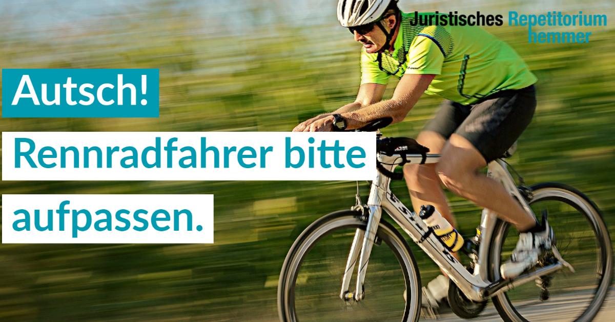 Autsch! Rennradfahrer bitte aufpassen.