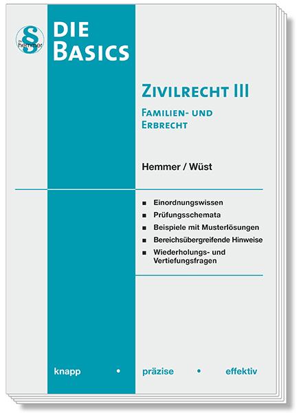 Skript Basics - Zivilrecht III Familienrecht / Erbrecht