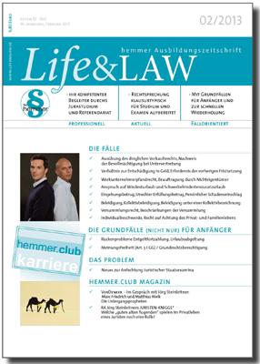 Life&LAW Ausgabe 2013/02