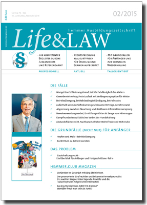Life&LAW Ausgabe 2015/02