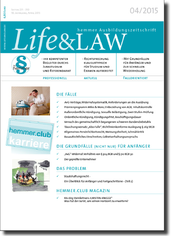 Life&LAW Ausgabe 2015/04