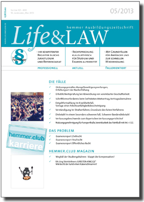 Life&LAW Ausgabe 2013/05