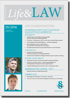 Life&LAW Ausgabe 2016/05