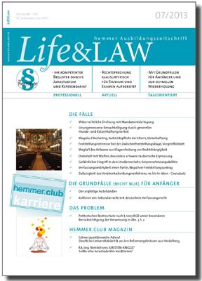 Life&LAW Ausgabe 2013/07