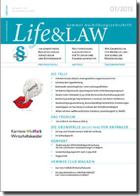 Life&LAW Ausgabe 2015/07
