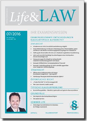 Life&LAW Ausgabe 2016/07