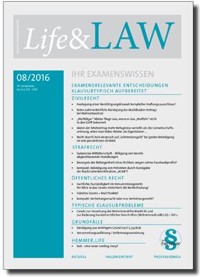 Life&LAW Ausgabe 2016/08