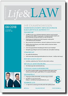 Life&LAW Ausgabe 2018/08