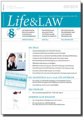 Life&LAW Ausgabe 2013/09