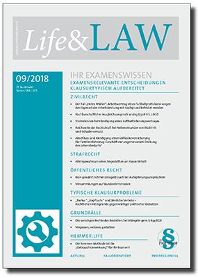 Life&LAW Ausgabe 2018/09