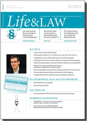 Life&LAW Ausgabe 2013/10