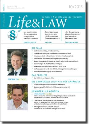 Life&LAW Ausgabe 2015/10