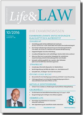 Life&LAW Ausgabe 2016/10
