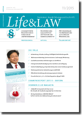 Life&LAW Ausgabe 2015/11