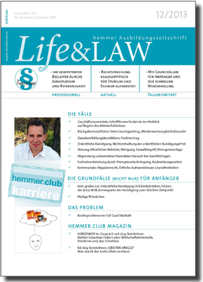 Life&LAW Ausgabe 2013/12
