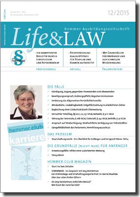 Life&LAW Ausgabe 2015/12