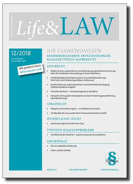 Life&LAW Ausgabe 2018/12