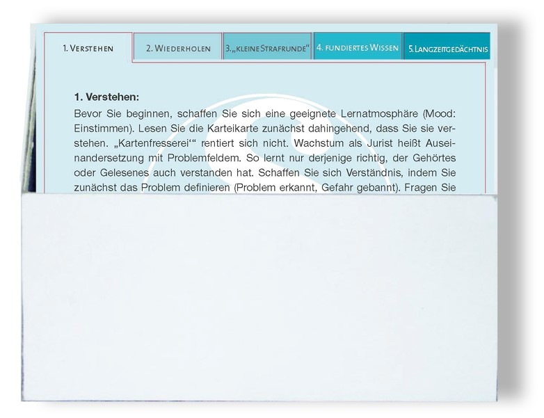 Lernbox für Karteikarten - 5er Pack