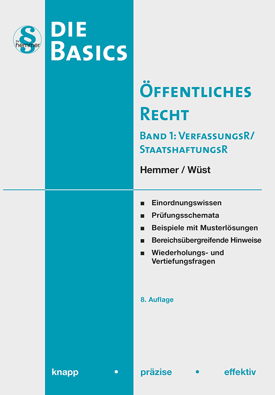 ebook Basics Öffentliches Recht I - Verfassungsrecht / Staatshaftungsrecht