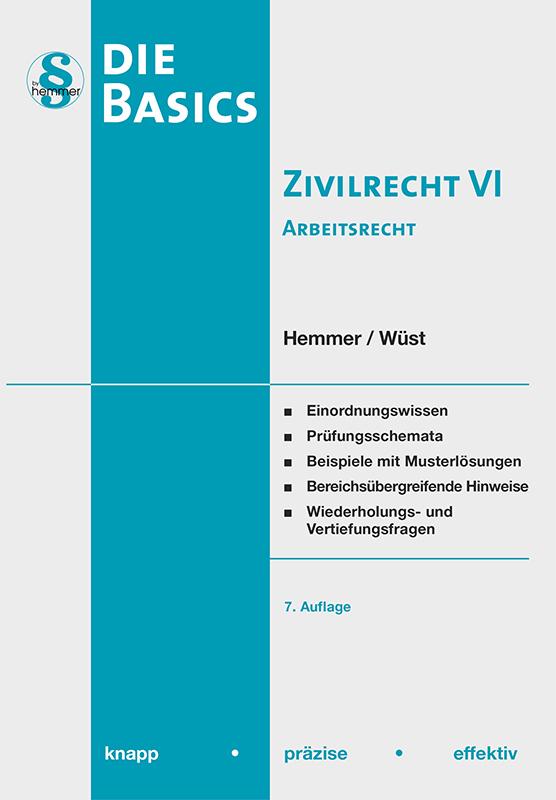 eBook Basics Zivilrecht VI - Arbeitsrecht
