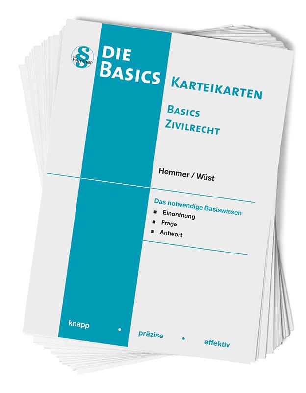 Karteikarten Basics - Zivilrecht