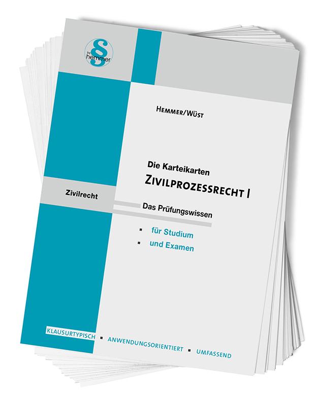 Karteikarten Zivilprozessordnung (ZPO) I