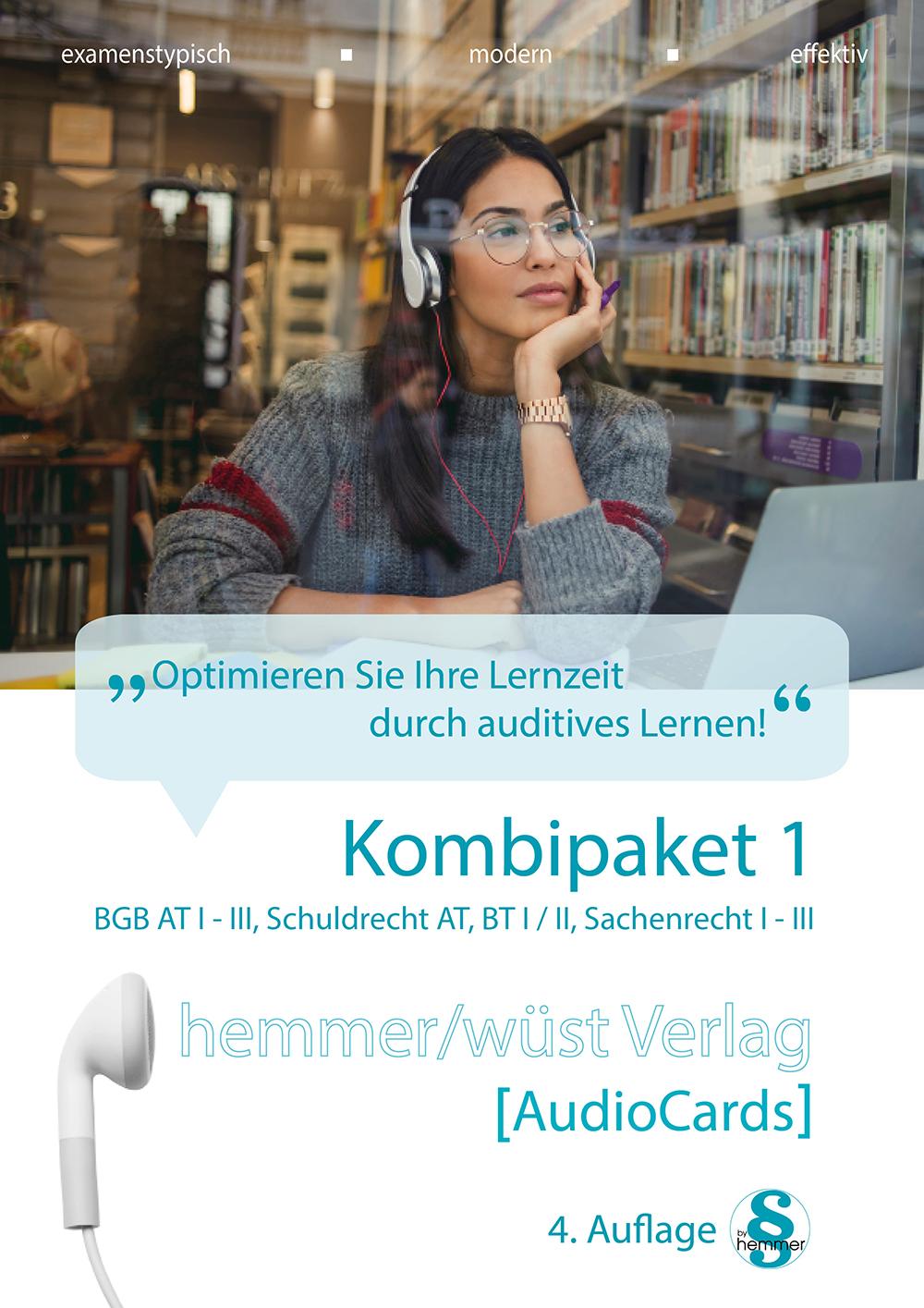 Audiocards - Kombipaket 1 - BGB AT, Schuldrecht und Sachenrecht - Download