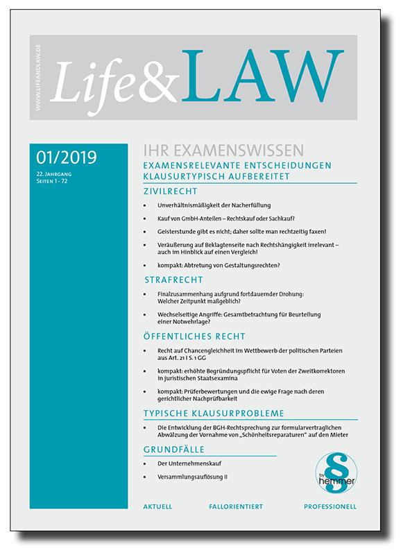 Life&LAW Ausgabe 2019/01