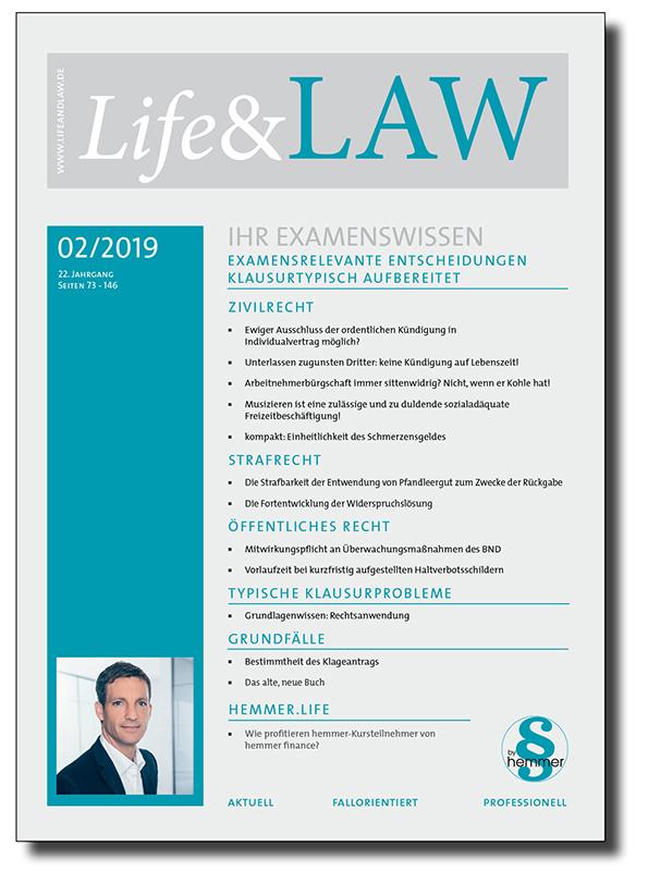 Life&LAW Ausgabe 2019/02