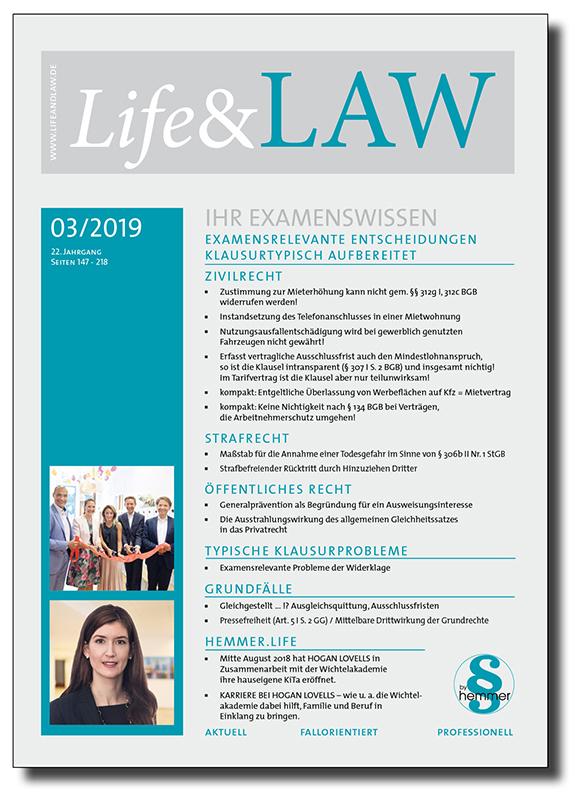 Life&LAW Ausgabe 2019/03