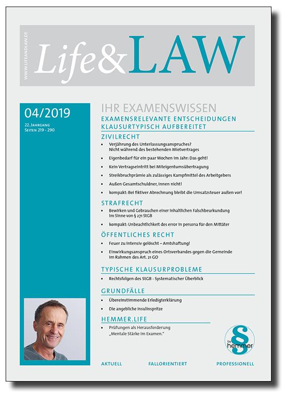 Life&LAW Ausgabe 2019/04