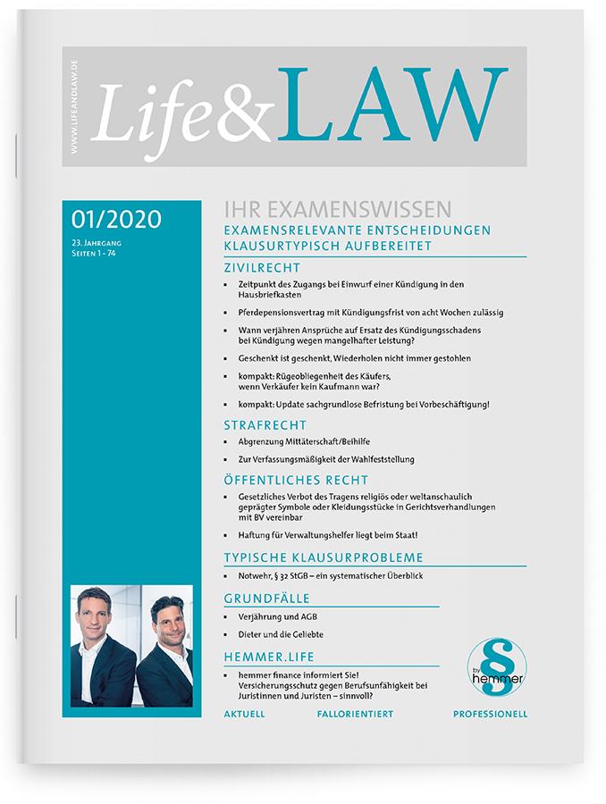 Life&LAW Ausgabe 2020/01