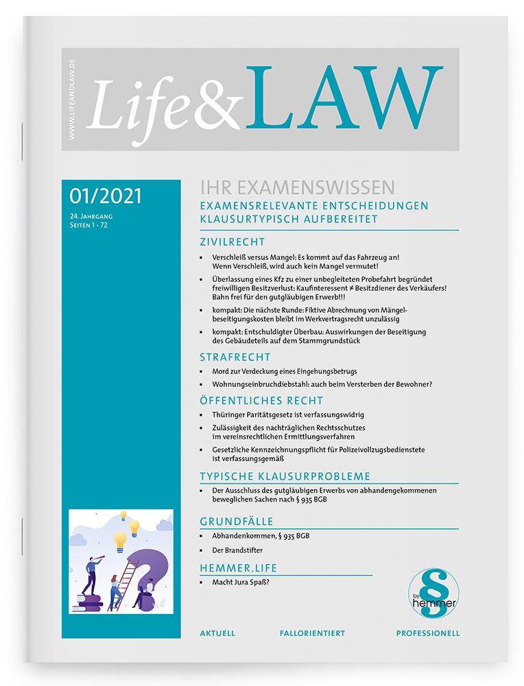 Life&LAW Ausgabe 2021/01