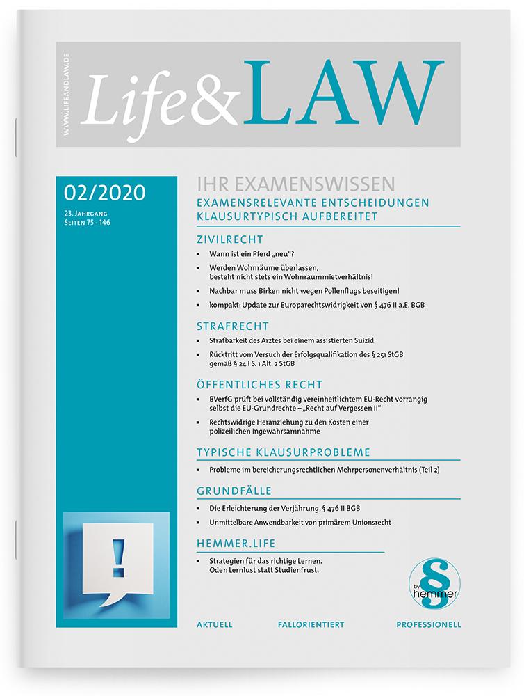 Life&LAW Ausgabe 2020/02