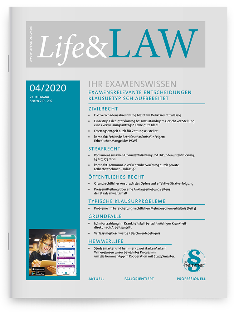 Life&LAW Ausgabe 04/2020