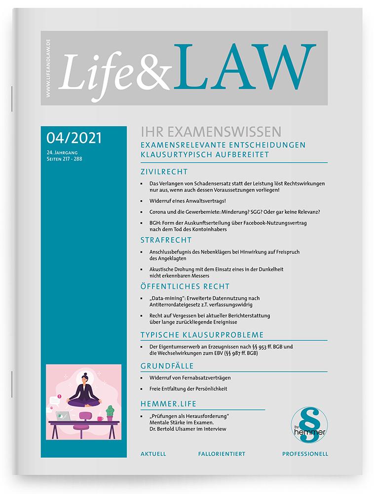 Life&LAW Ausgabe 2021/04