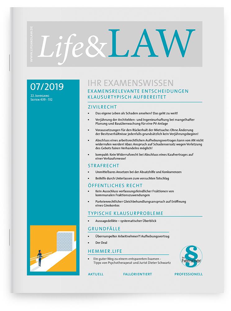 Life&LAW Ausgabe 2019/07