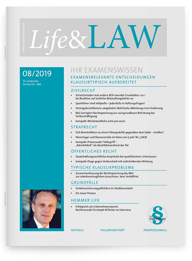 Life&LAW Ausgabe 2019/08