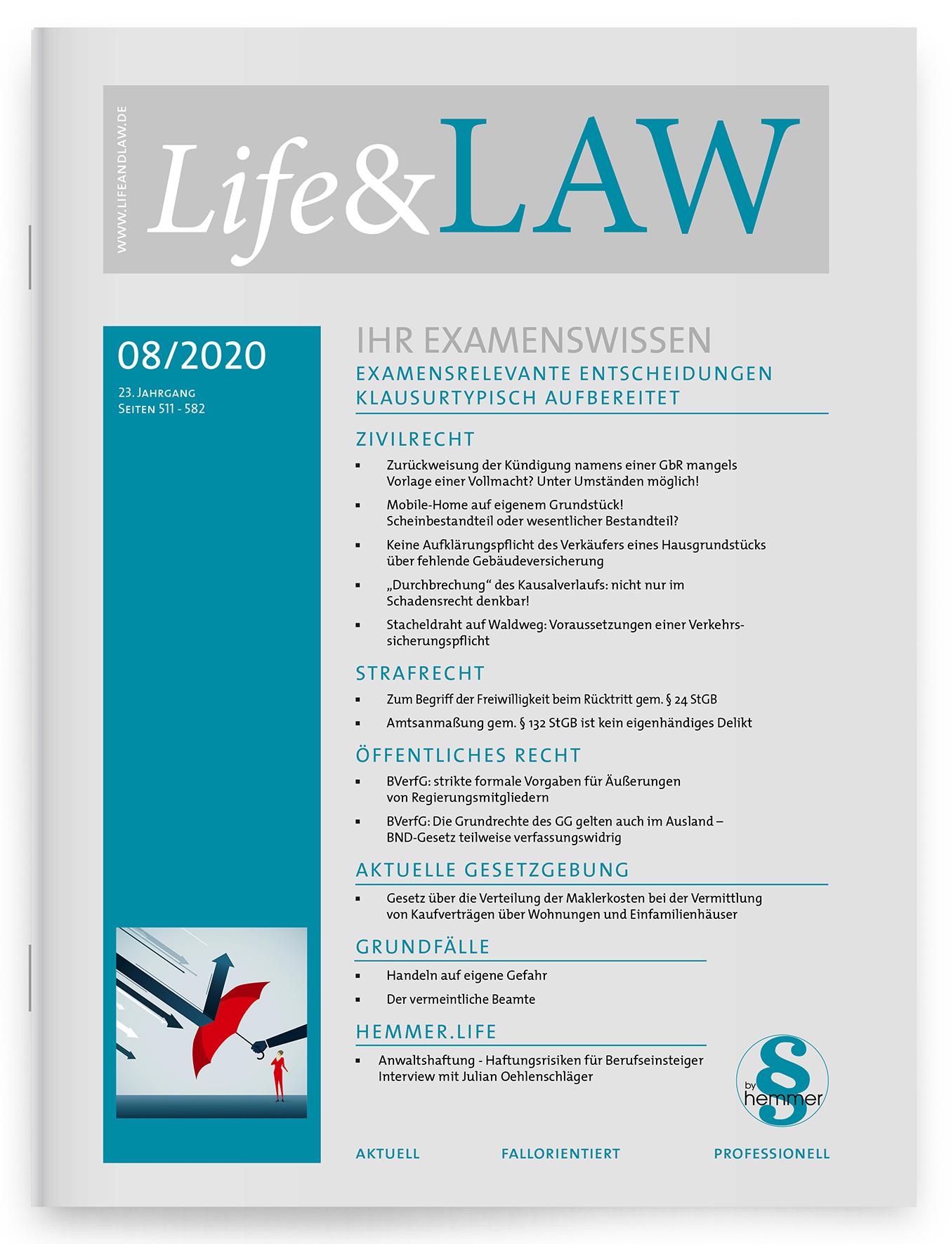 Life&LAW Ausgabe 2020/08