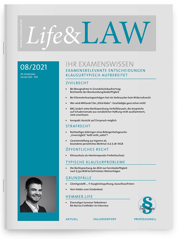 Life&LAW Ausgabe 2021/08