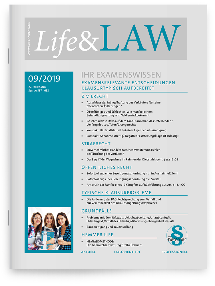 Life&LAW Ausgabe 2019/09