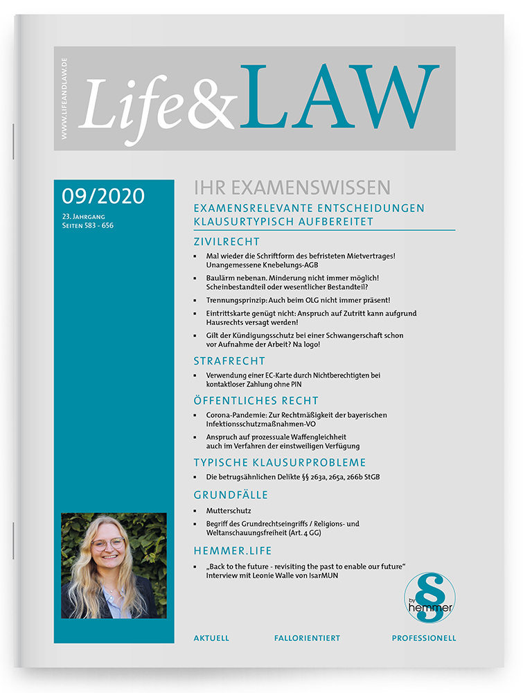 Life&LAW Ausgabe 2020/09