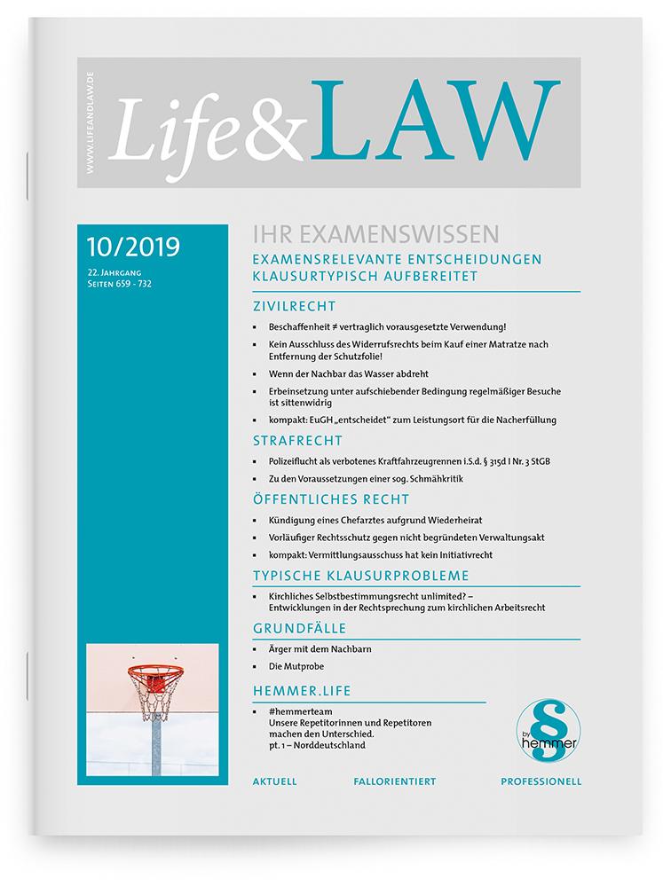 Life&LAW Ausgabe 2019/10