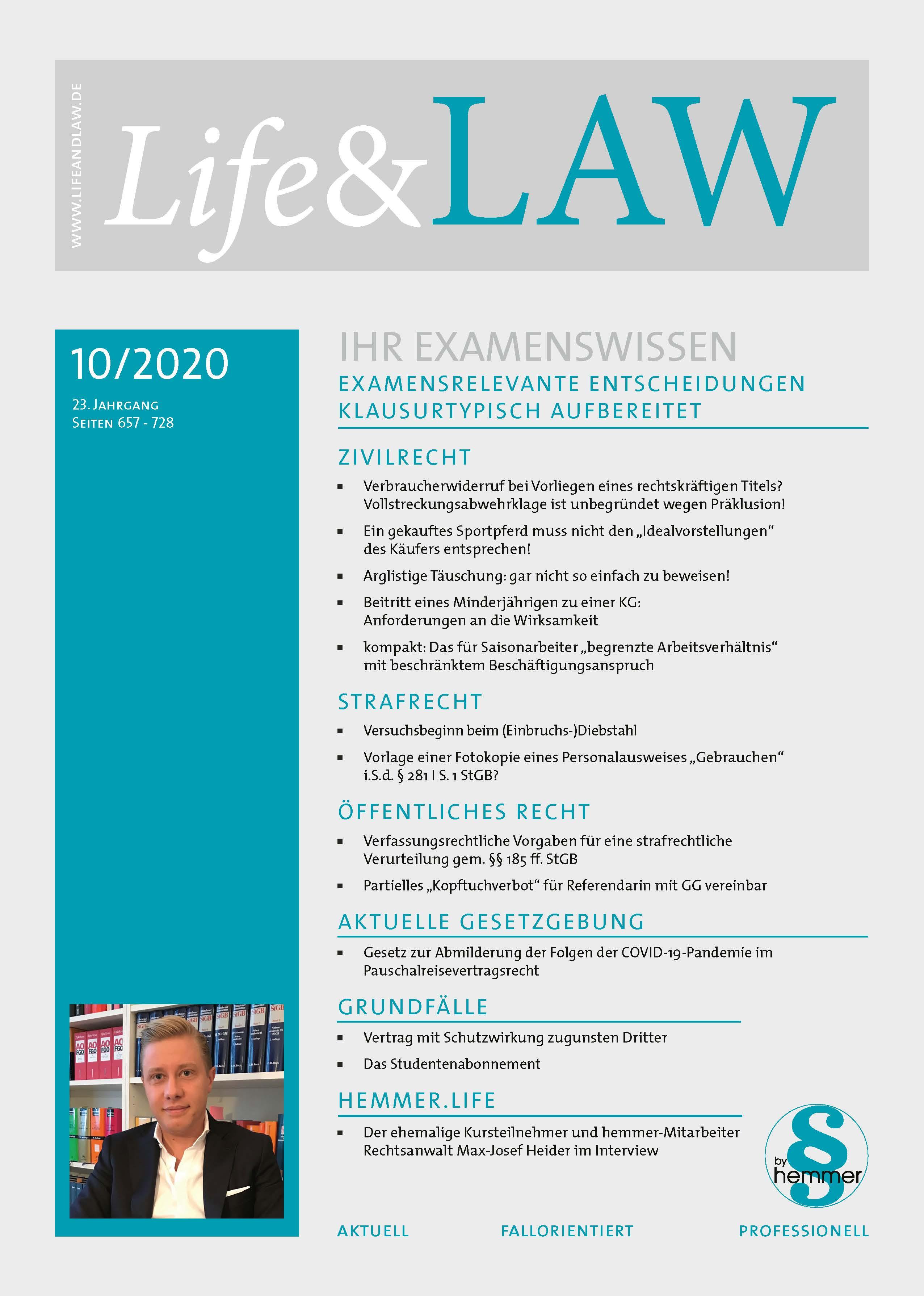 Life&LAW digital Ausgabe 2020/10