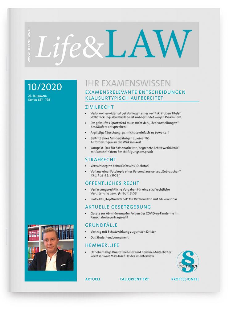 Life&LAW Ausgabe 2020/10