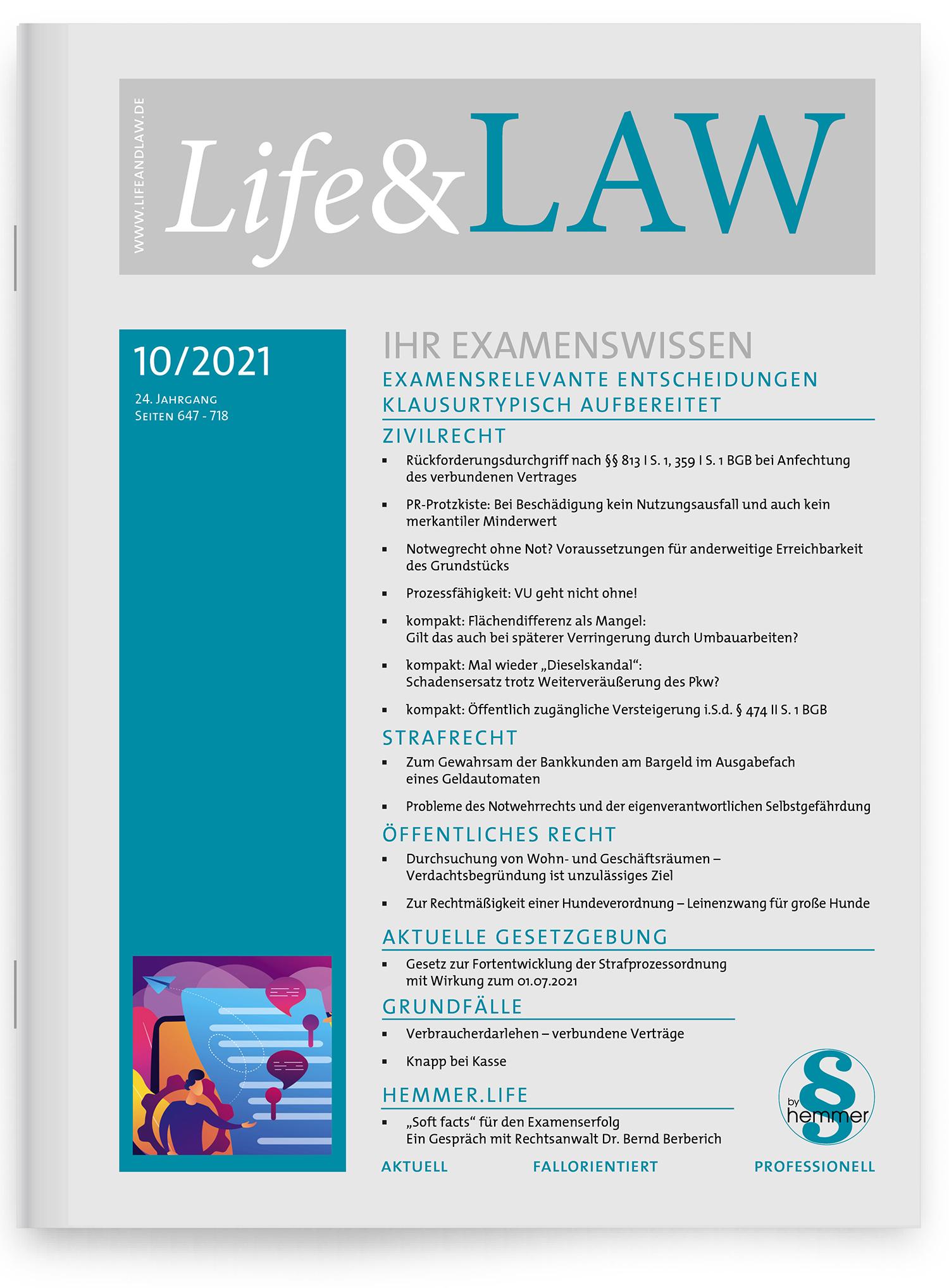Life&LAW Ausgabe 2021/10