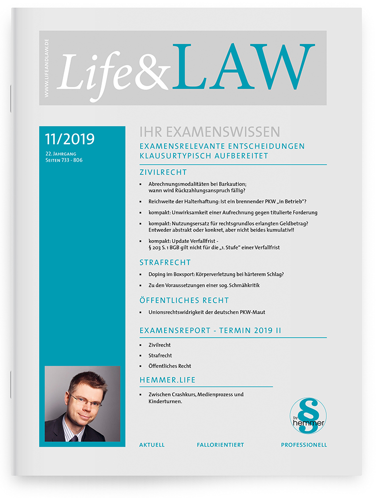Life&LAW Ausgabe 2019/11