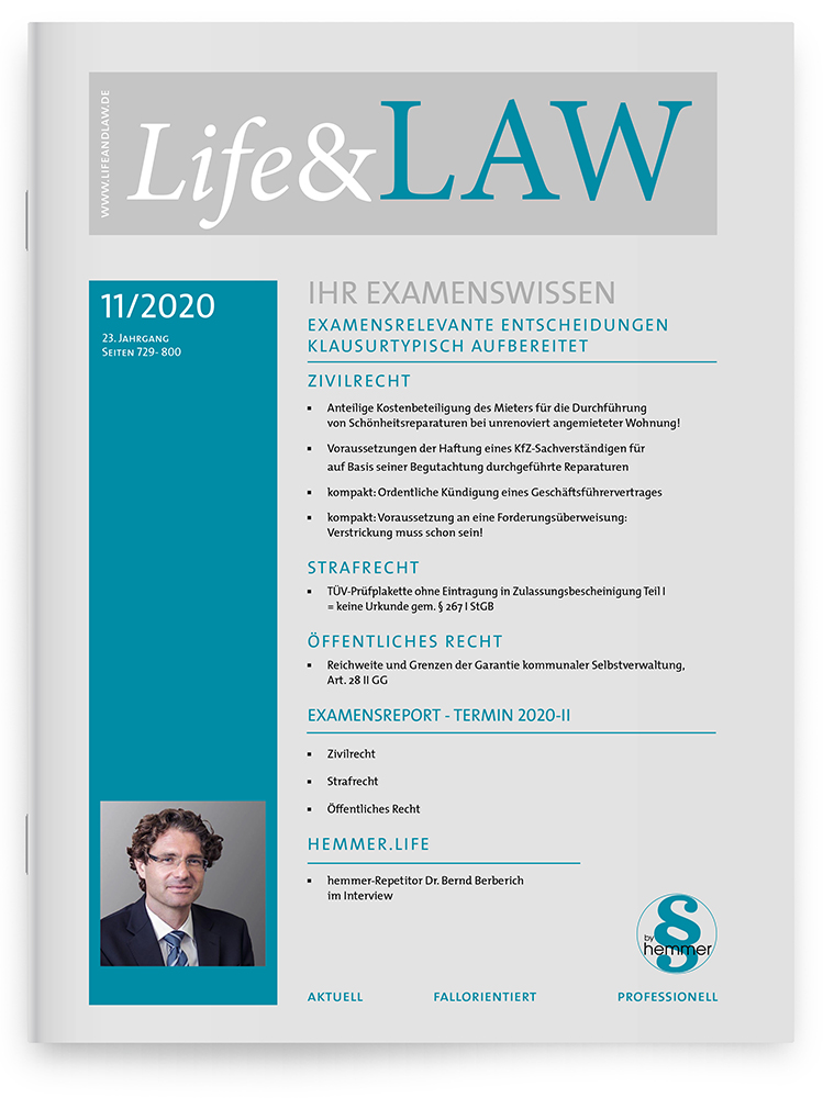Life&LAW Ausgabe 2020/11