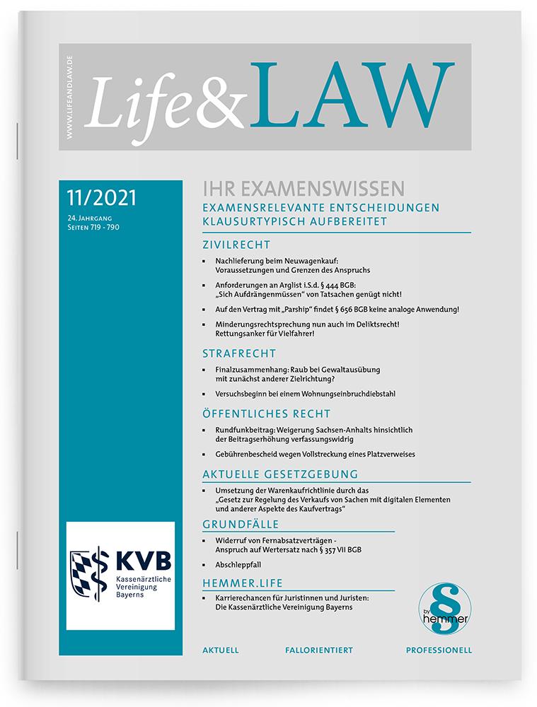 Life&LAW Ausgabe 2021/11